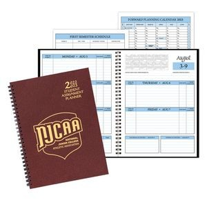 Student Assignment Planner w/ Leatherette Cover