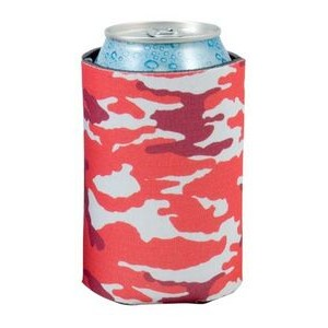 Red Camo Scuba Pocket Coolie Can Cover (4 Color Process)