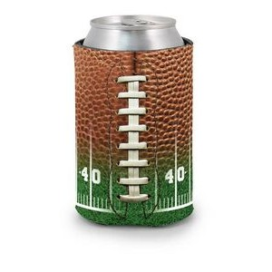 Football Field Scuba Pocket Coolie Can Cover (4 Color Process)