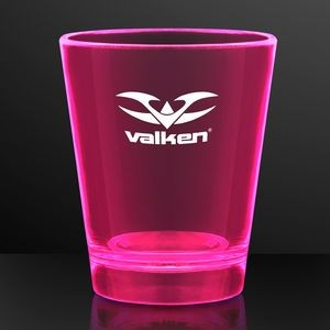 1.5 oz. UV Reactive Pink Glow Shot Glasses