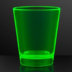 1.5 oz. UV Reactive Green Glow Shot Glasses - BLANK