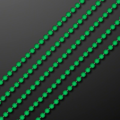 "7mm 33"" Round Green Beads (Non-Light Up) - BLANK"