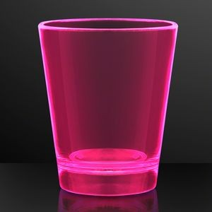 1.5 oz. UV Reactive Pink Glow Shot Glasses - BLANK