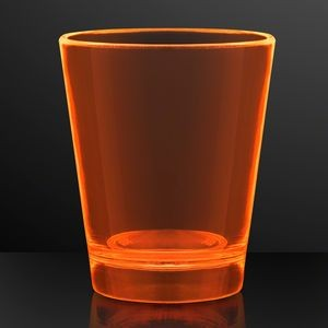 1.5 oz. UV Reactive Orange Glow Shot Glasses - BLANK